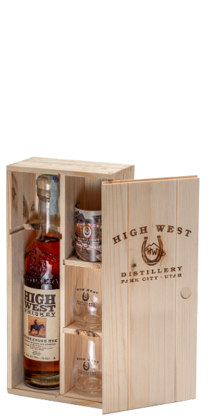 WHISKEY  HIGH WEST RENDEZ VOUS GLASS PACK  PB